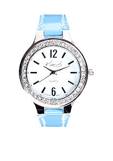Kim Rogers Turquoise Patent Strap Watch