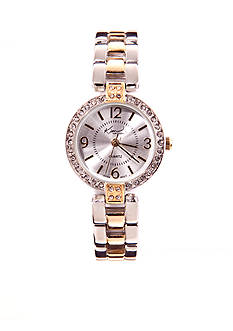 Kim Rogers Round Two-Tone Link Watch