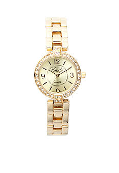 Kim Rogers® Gold Link Watch