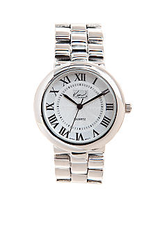 Kim Rogers® Round Metal Link Watch