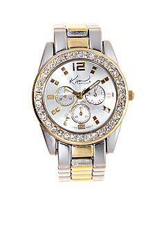 Kim Rogers Two Tone Link Watch with Stones