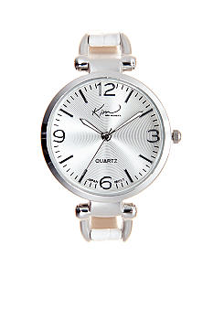 Kim Rogers Skinny White Strap Watch