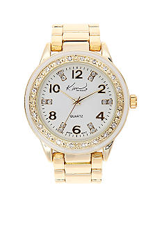 Kim Rogers Gold and White Link Watch