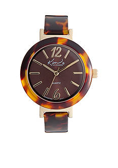 Kim Rogers Women's Tortoise Metal Link Watch