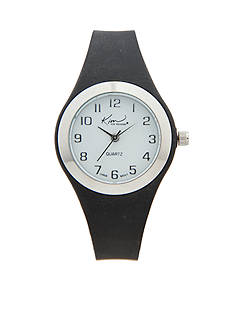 Kim Rogers Women's Black Silicone Watch