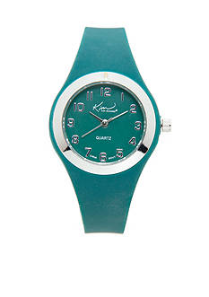 Kim Rogers Women's Green Silicone Watch
