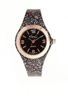 Kim Rogers Women's Gray Paisley Silicone Watch