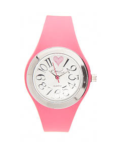 Kim Rogers Women's Pink Silicone Watch