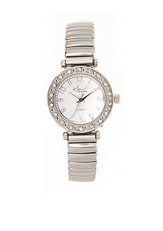 Kim Rogers Women's Silver Expansion Watch