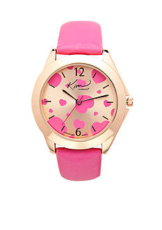 Kim Rogers Women's Pink and Rose Gold-Tone Watch
