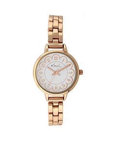 Kim Rogers Women's Rose Gold-Tone Watch