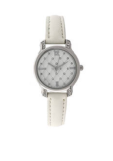 Kim Rogers Women's Quilted White Watch