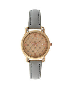 Kim Rogers Women's Quilted Embellized Watch