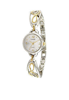Kim Rogers Women's Two Tone Filigree Bangle Watch