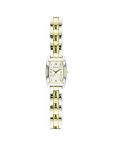 Kim Rogers Women's Two Tone Rectangular Watch