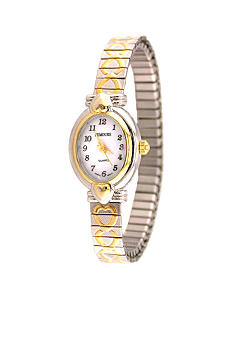 Kim Rogers Women's Two Tone Heart Expansion Watch