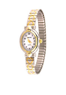 Kim Rogers Women's Two-Tone Heart Expansion Watch