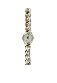 Kim Rogers Women's Two Tone Roman Numeral Link Watch