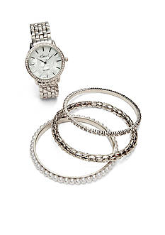 Kim Rogers Women's Watch Bangle Set