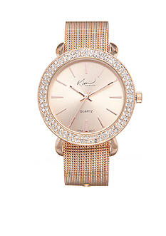 Kim Rogers Women's Rose Gold-Tone Watch Boxed Set For Mother's Day
