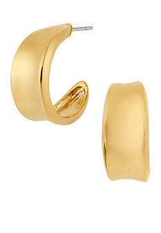 Robert Lee Morris Small Concave Hoop Earrings