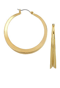 Robert Lee Morris Gold Medium Hoop Earrings