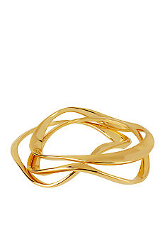 Robert Lee Morris Wavy Hinged Bangle Bracelet Set