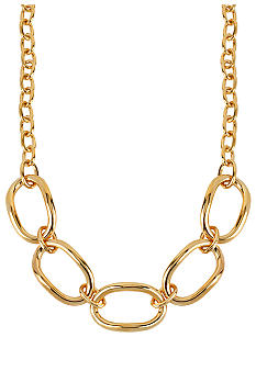 Robert Lee Morris Large Oval Link Frontal Necklace