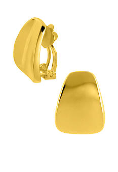 Robert Lee Morris Wide Wedge Clip-On Earring