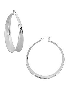 Robert Lee Morris Large 'V' Hoop Earrings