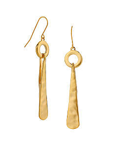 Robert Lee Morris Hammered Circle & Triangle Drop Earrings