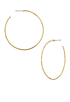 Robert Lee Morris Large Hammered Wire Hoop Earrings