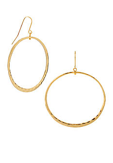 Robert Lee Morris Hammered Circle Drop Earrings