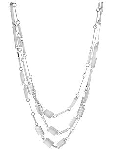 Robert Lee Morris Rectangle Link Illusion Necklace
