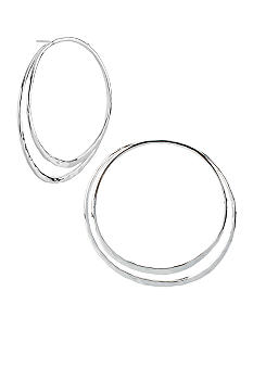 Robert Lee Morris Hammered Double Hoop Earrings