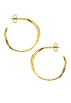 Robert Lee Morris Hammered Open Hoop Earring