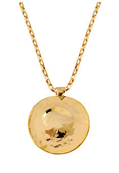 Robert Lee Morris Hammered Circle Disc Pendant Necklace