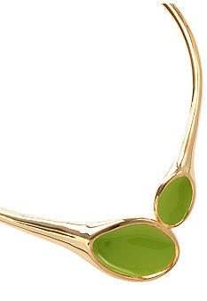 Robert Lee Morris Lime Green Collar Necklace