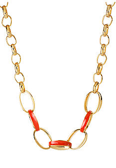 Robert Lee Morris Coral Link Frontal Necklace