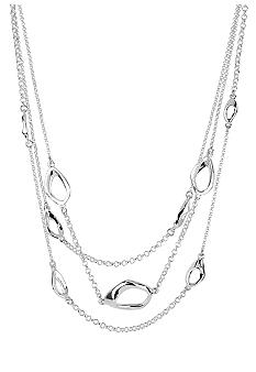Robert Lee Morris Sculptural Link Multi Row Necklace