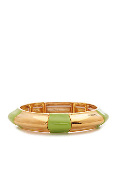 Robert Lee Morris Lime Green Segmented Stretch Bracelet