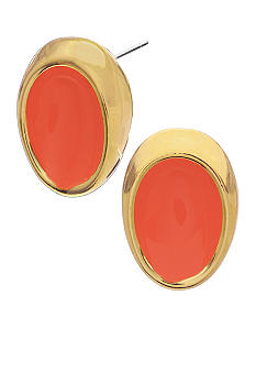 Robert Lee Morris Coral Oval Stud Earring