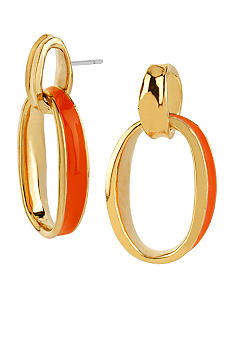 Robert Lee Morris Coral Oval Drop Earrings