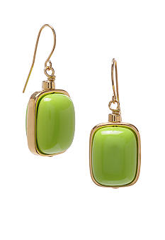 Robert Lee Morris Lime Green Rectangle Bead Drop Earring