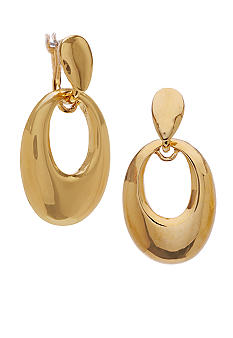 Robert Lee Morris Sculptural Oval Drop Earring