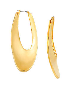 Robert Lee Morris Sculptural Oval Hoop Earring