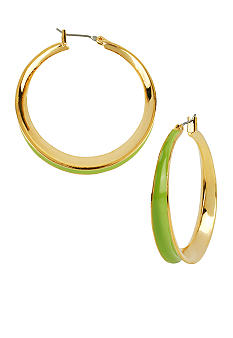 Robert Lee Morris Lime Green Hoop Earring