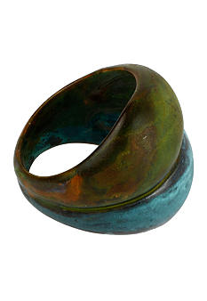 Robert Lee Morris Blue & Green Patina Double Ring