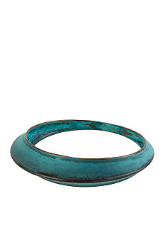Robert Lee Morris Blue Patina Sculptural Bangle Bracelet