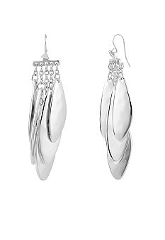 Robert Lee Morris Silver Petal Chandelier Earring